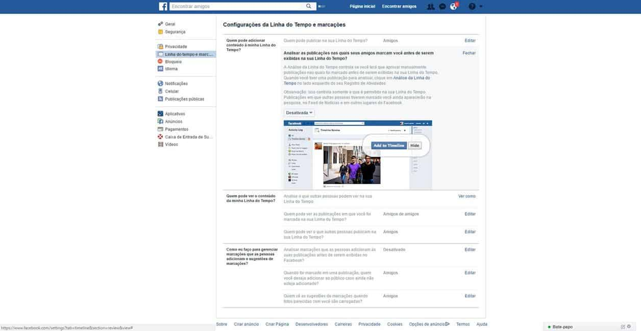 Dicas para Facebook - Marcações