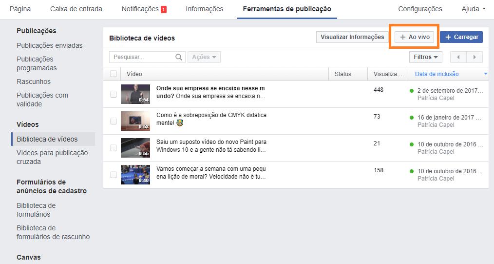 Live no Facebook - 06